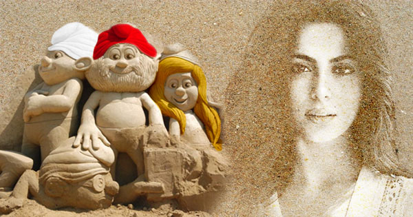 Make Yourself Beautiful With Sand Art Effect
